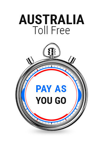 Australia Toll Free Pay As You Go