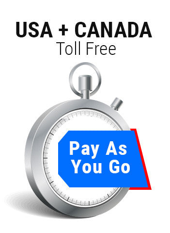 USA + Canada Toll Free Pay As You Go