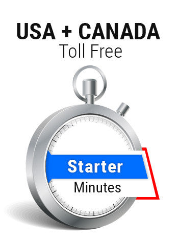 USA + Canada Toll Free Starter Minutes