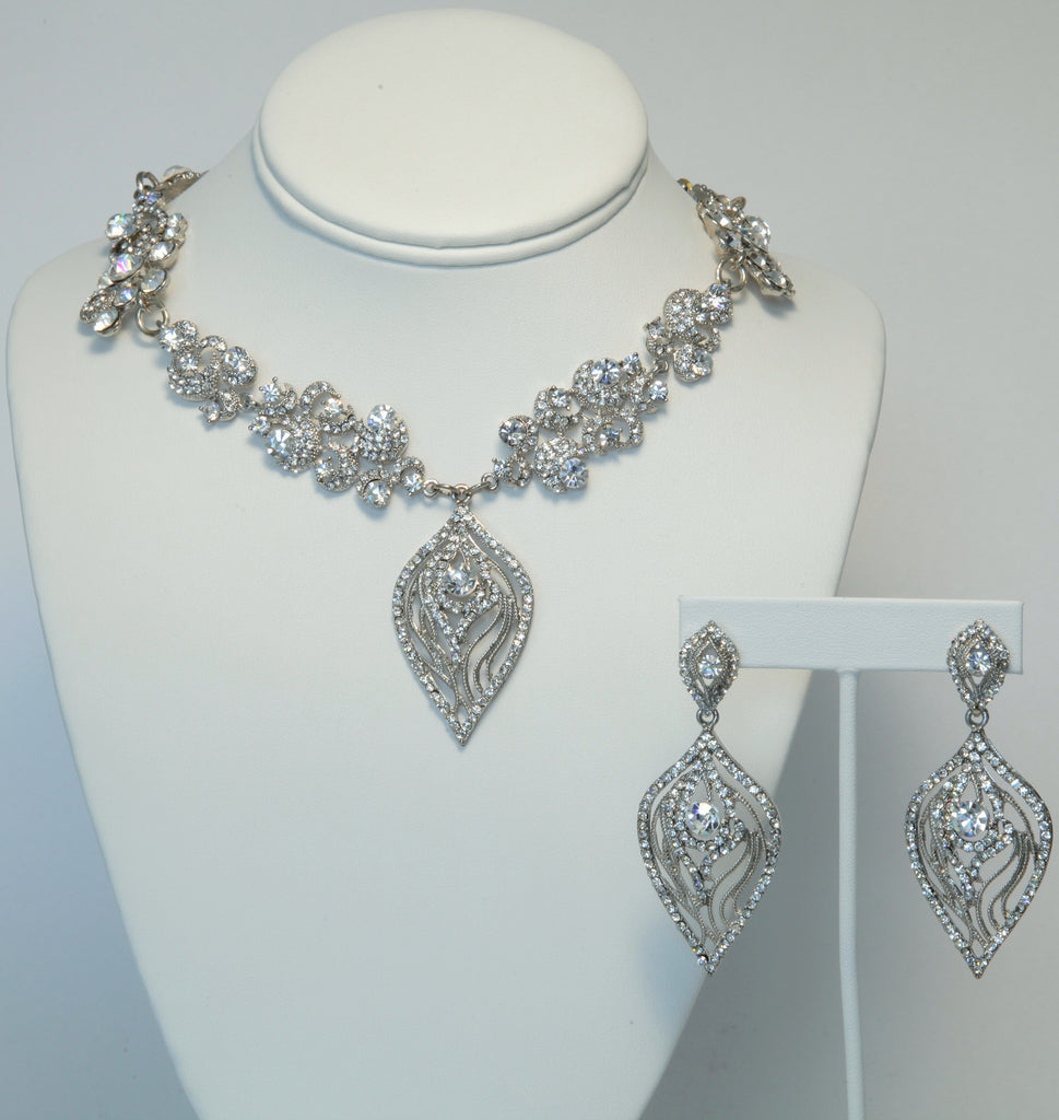 Heftsi Silver plated Jewelry Set , Wedding collection