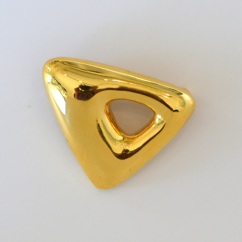 Heftsi Gold Triangle Brooche