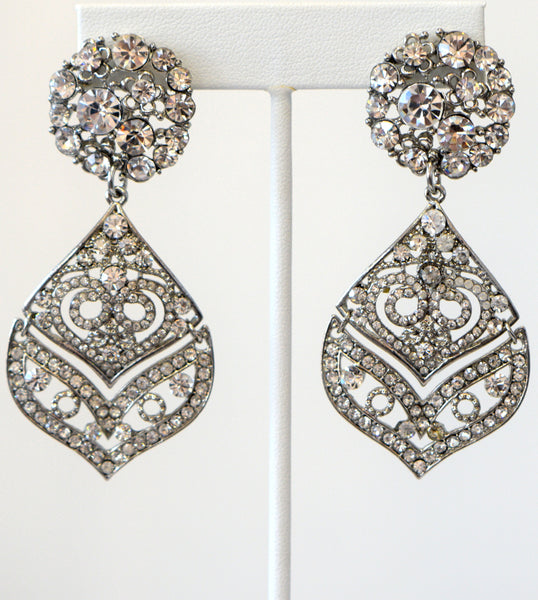Heftsi Clear Stone Earrings Wedding Collection
