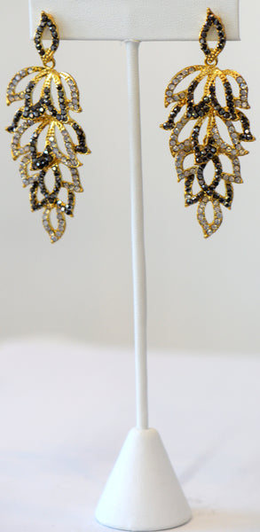 Heftsi Gold And silver Stone Earrings Wedding collection
