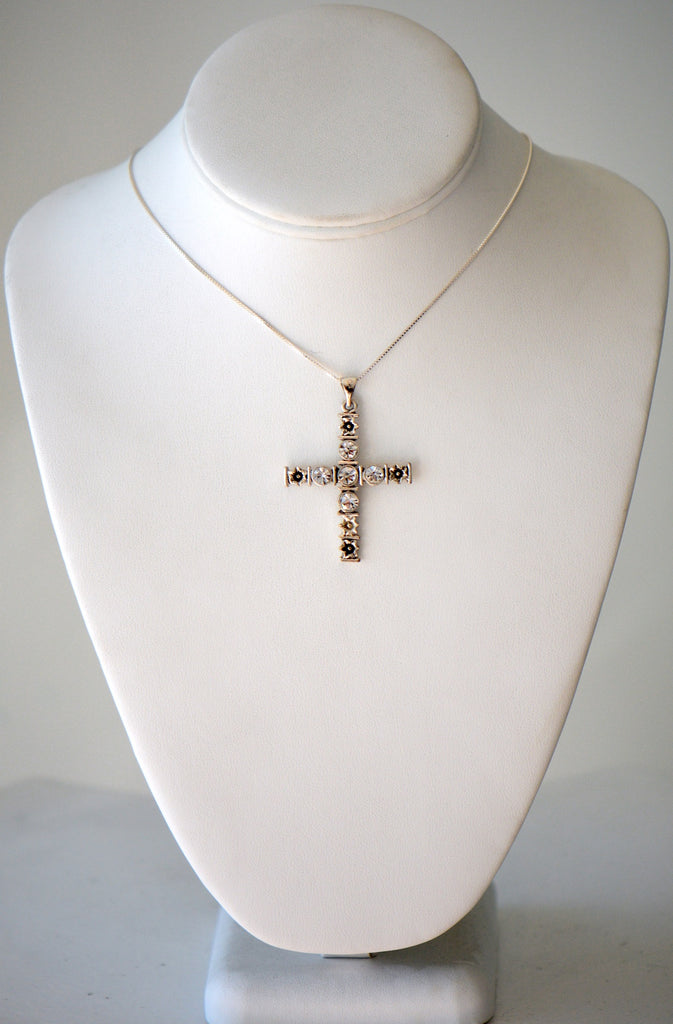 Chain with jeweled cross