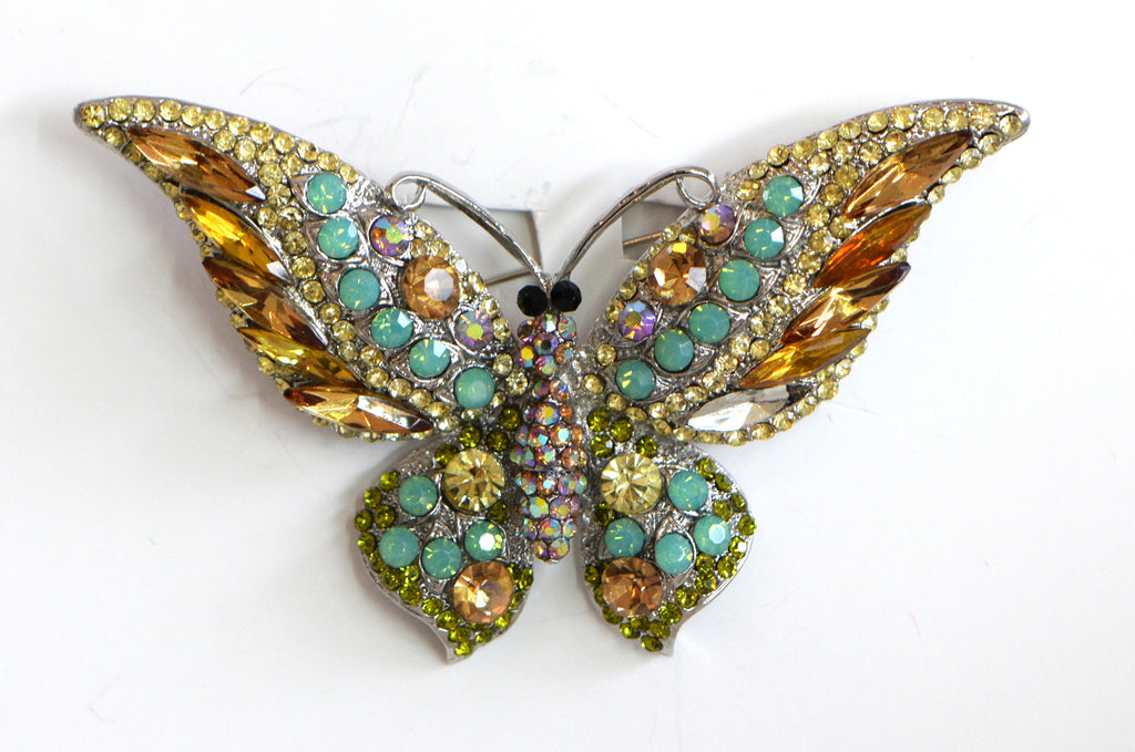 Heftsi Butterfly Broche with swarovski crystals