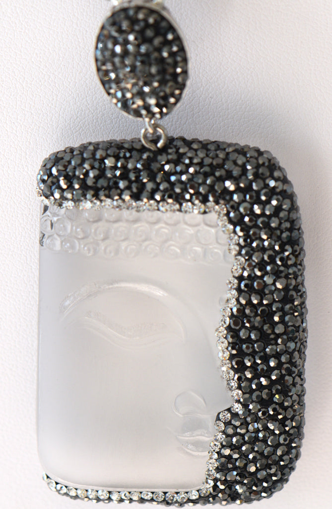 Heftsi Clear Buddha With Pave setting Pendants