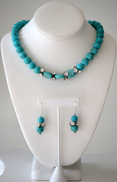 Turquoise beaded neck matching