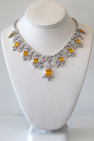 Cubic Zirconia Wedding Necklace, wedding collection, Rental Necklace
