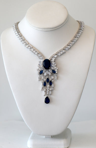 Heftsi Cubic Zirconia Wedding Necklace