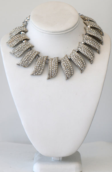 Clear Rhinestone Necklace