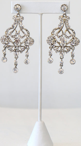 Heftsi Clear Stone Earrings, wedding collection