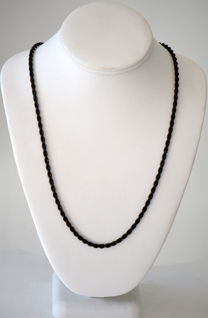 Long twisted Rop black necklace