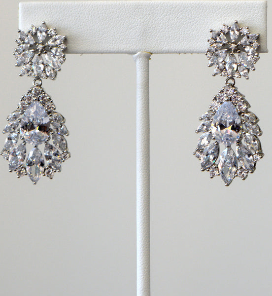 Heftsi Cubic Zirconia Wedding collection Earrings