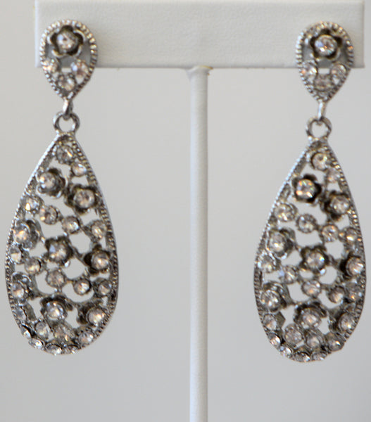 Heftsi Clear Stone Wedding Collection Earrings
