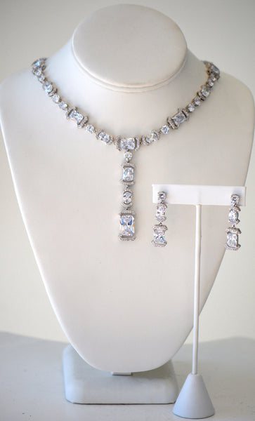 Cubic Zirconia Wedding Collection Necklace Set