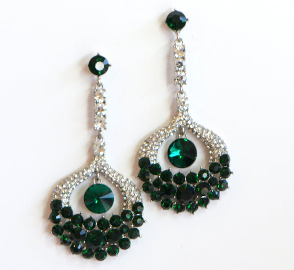 Heftsi Green CZ Earrings