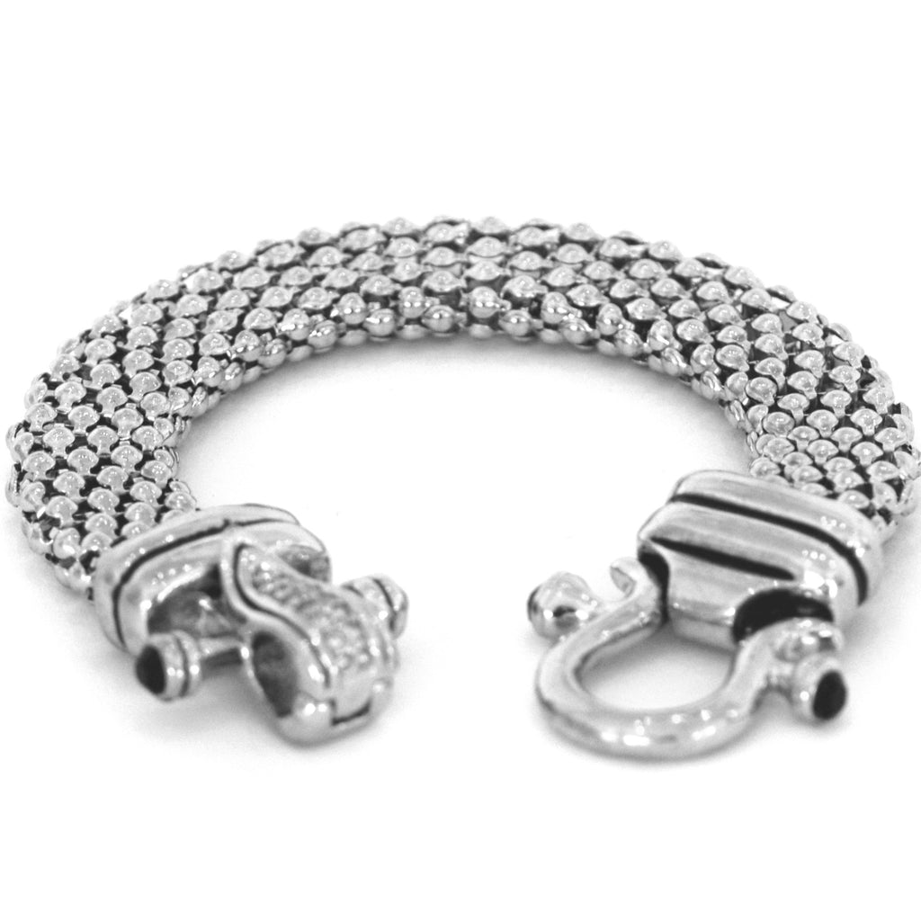Silver Plated Bracelet With Beautiful Clasp