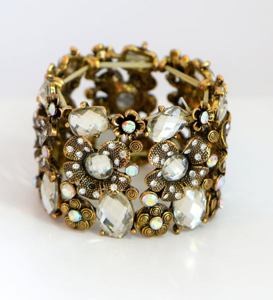 Heftsi Gold Plated Bracelet With Cubic Zircon