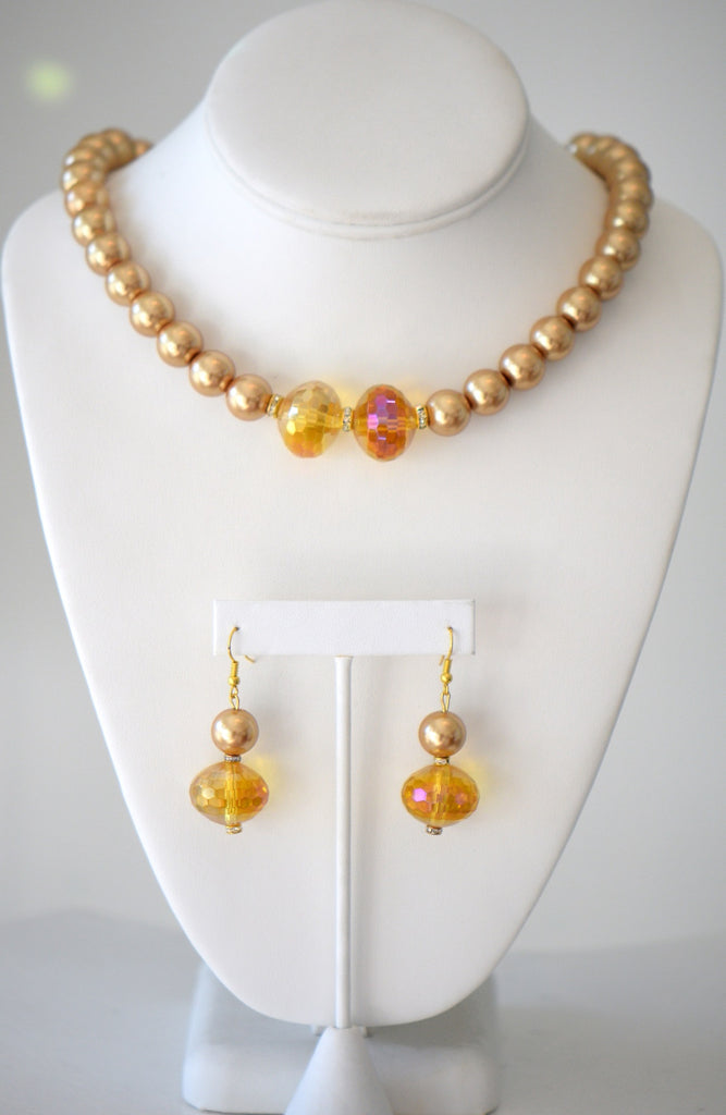 Sunset pearl necklace Set