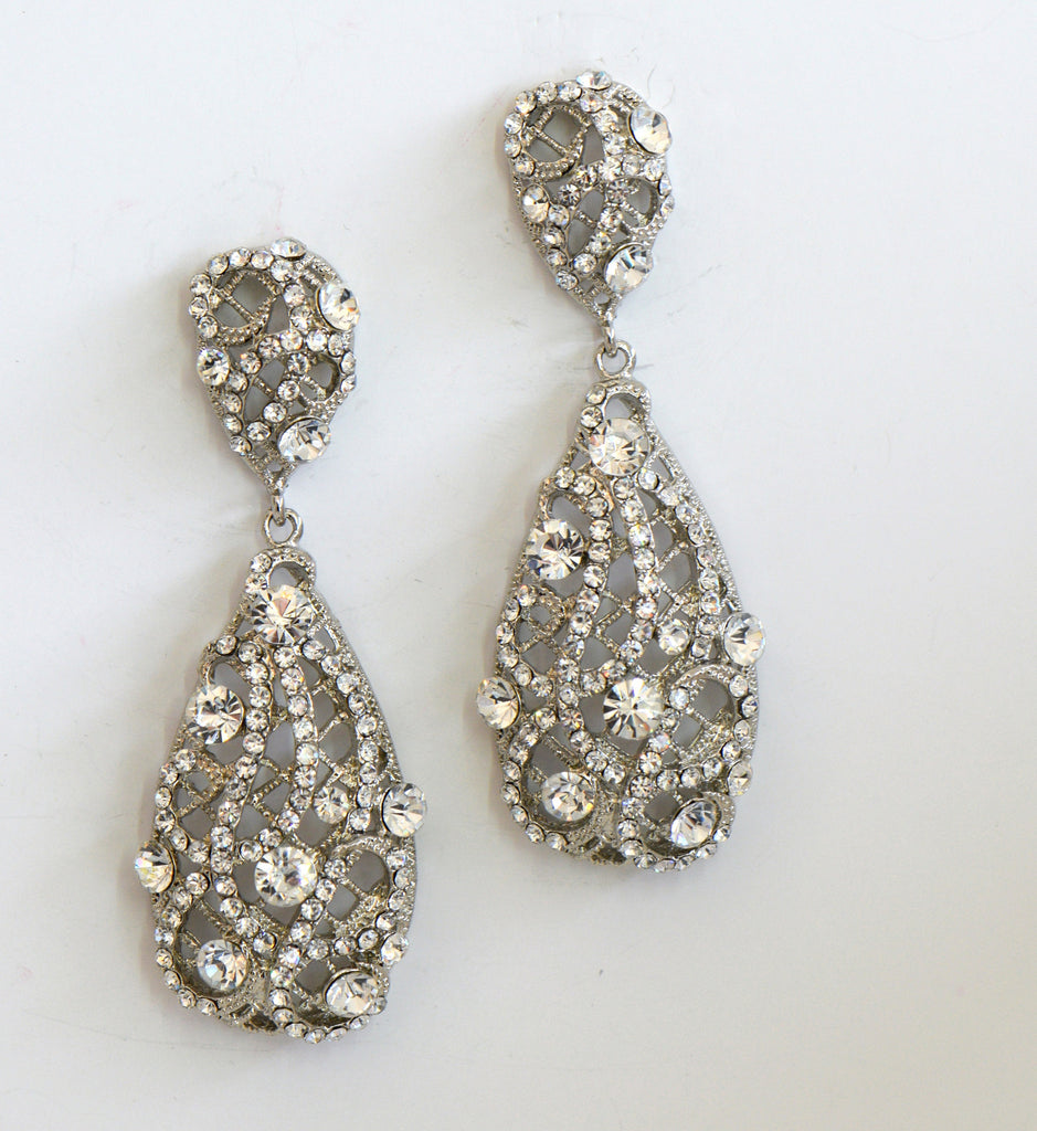 Clear Cubic Zirconia Earrings