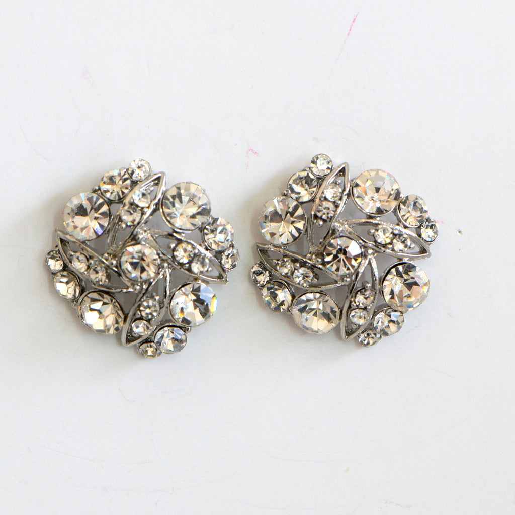 Clear Rhinestone Earrings