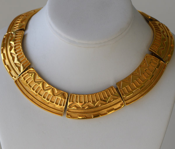Gold Plated Egyptian style vintage Necklace