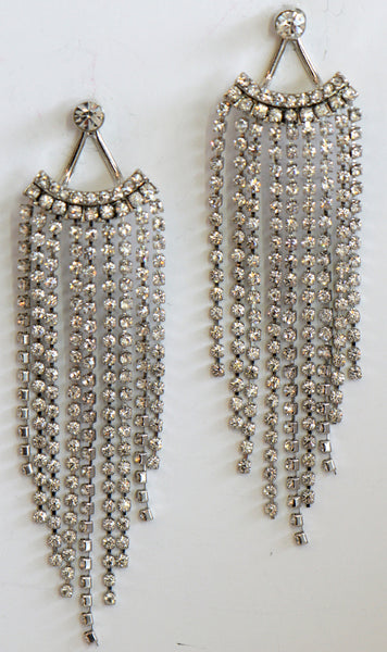 Heftsi Clear Rhinestone Earrings
