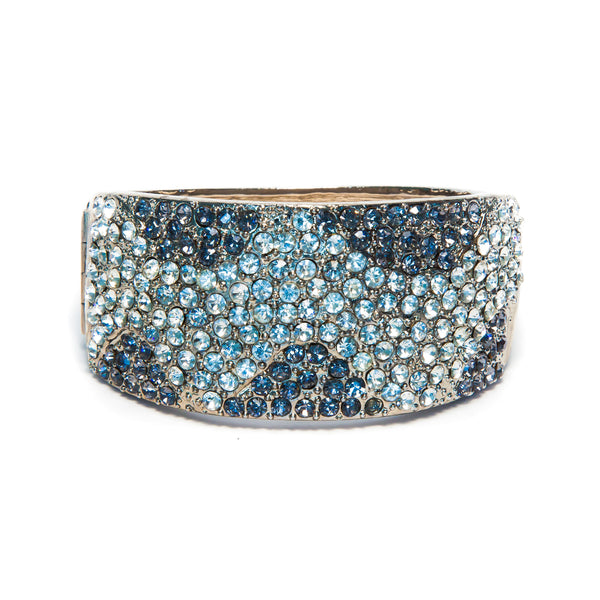 Bracelet with Clear and Grey Rhinestones
