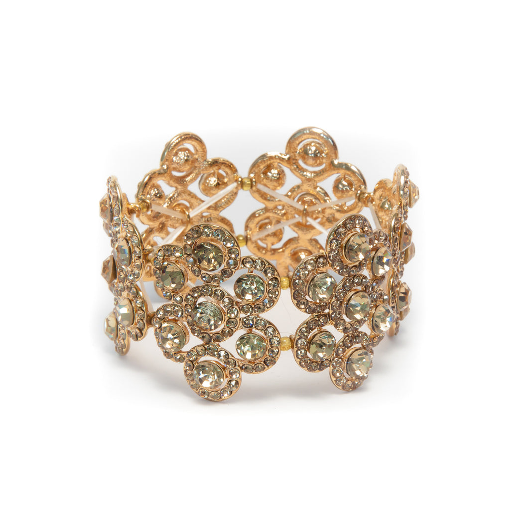 Heftsi Gold Rhinestone bracelet, Wedding collection
