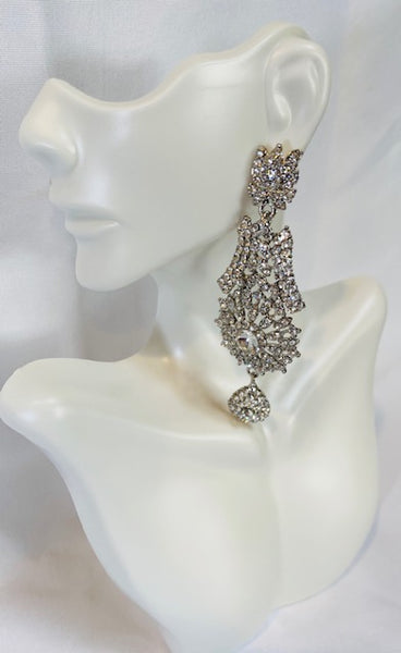 Long Clear rhinestone Earring