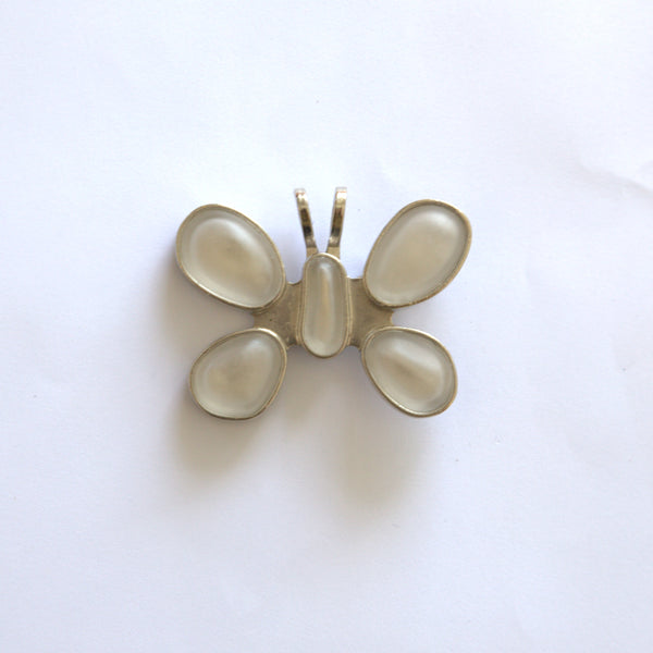 Silver-tone Butterfly Clip/ Pendent by Rebecca Collins