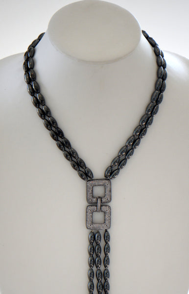 Heftsi Long Hematite Necklace