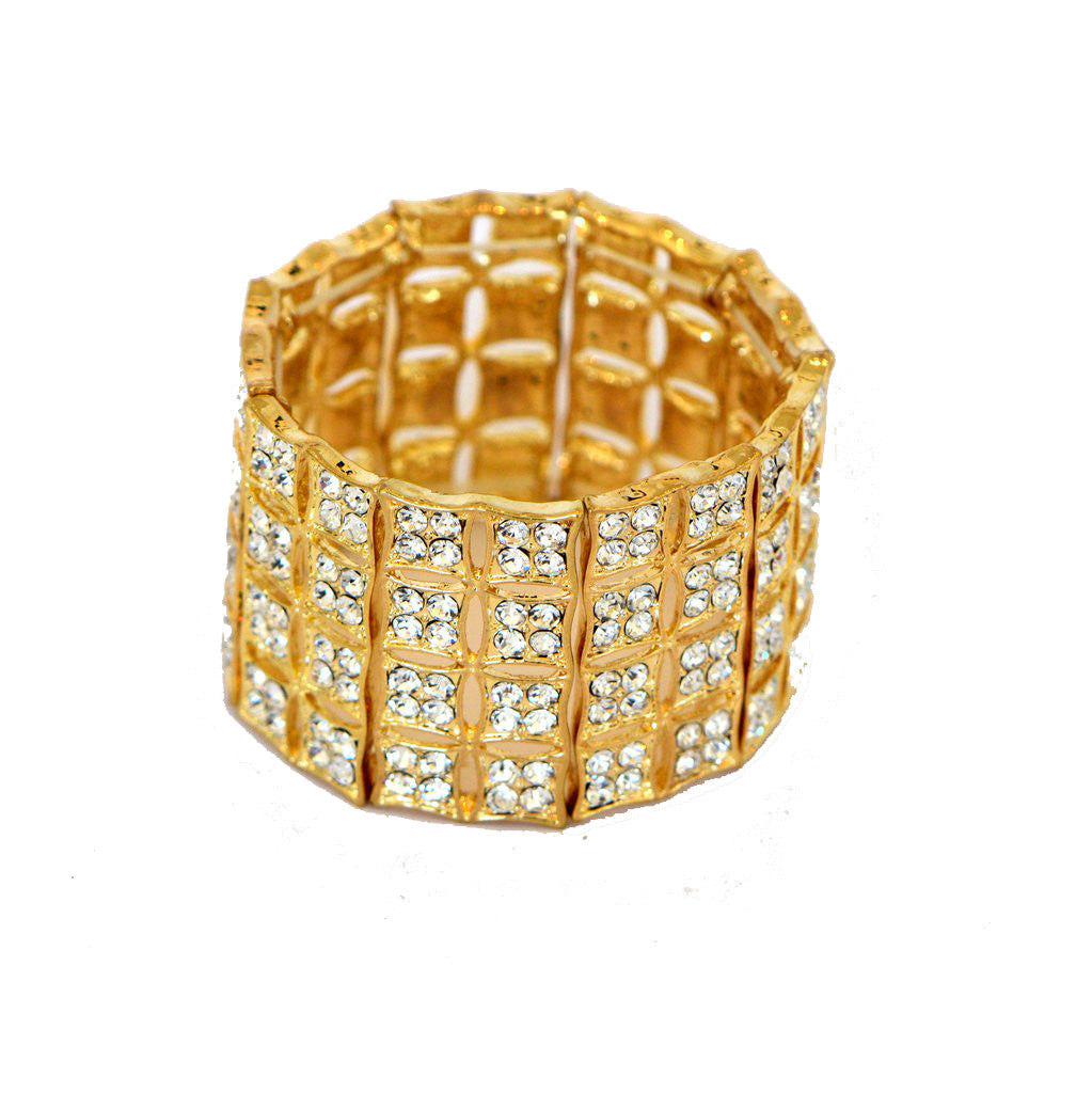 Heftsi Gold Plated Bracelet With Clear Cubic Zircon
