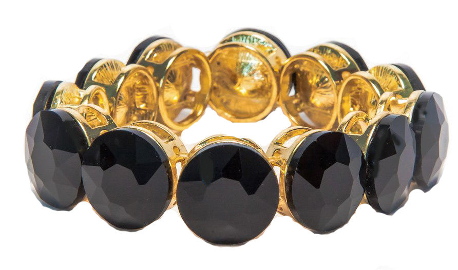Black Onyx with gold plated