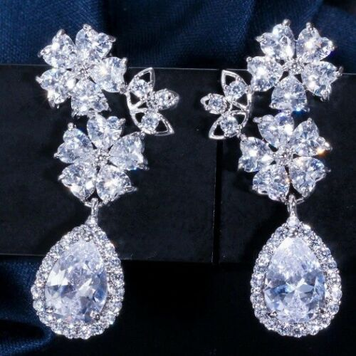 Clip on Cubic Zirconia AAA Quality Earrings, wedding, mother of the bride, bridal, Wedding collection, wedding jewelry