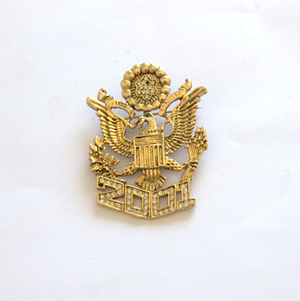 2001 Eagle Gold Tone Metal Pin/Brooch