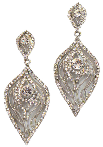 Heftsi Wedding Earrings With Clear CZ