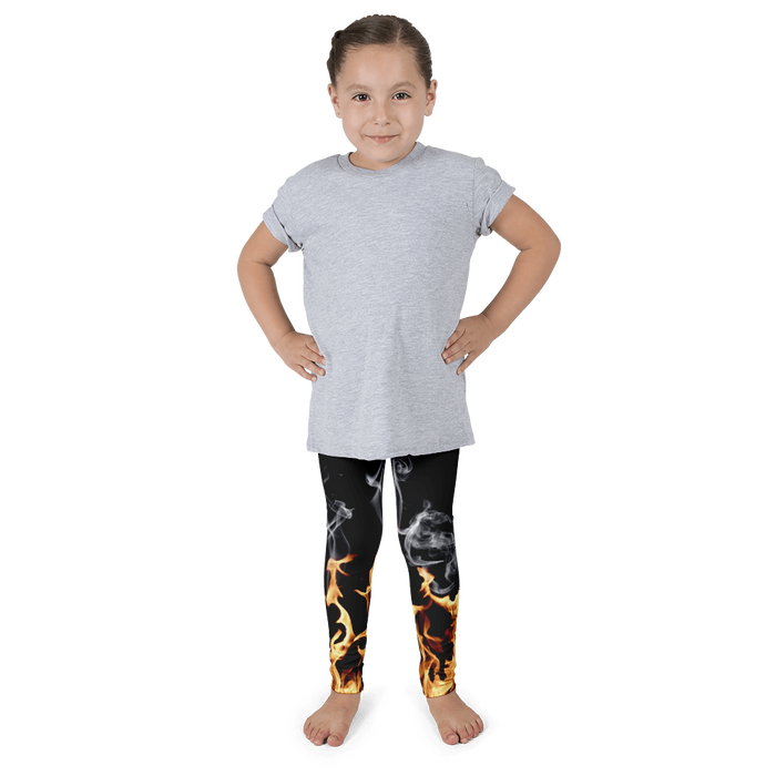 On fire kids leggings
