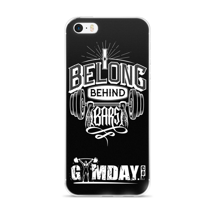 behind bars gym iphone case