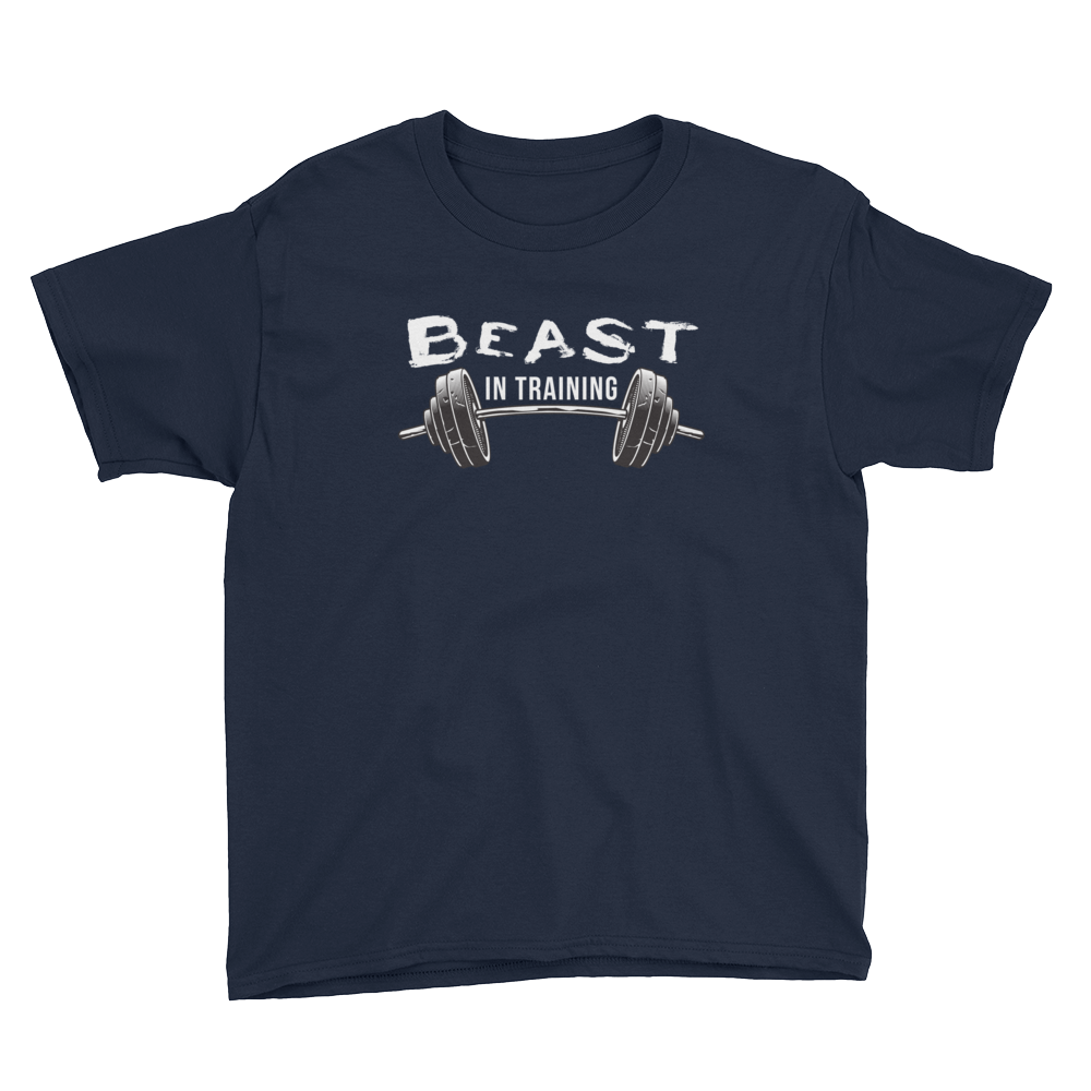 beast in training shirt