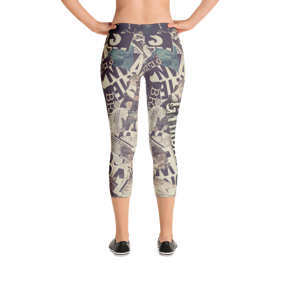 newspaper gym capri leggings