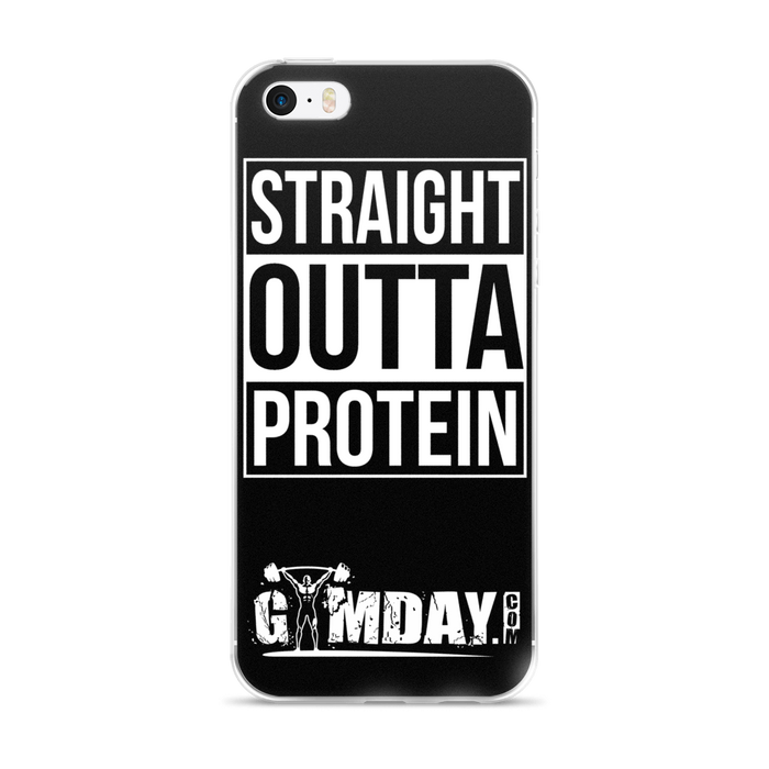 straight outta protein iPhone case