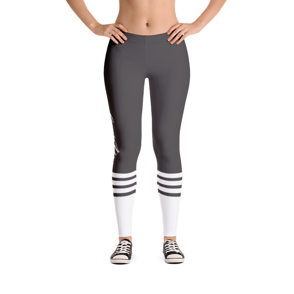 GUNMETAL SPORT GYM LEGGINGS