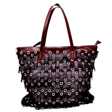 Berry color tote BAG-390