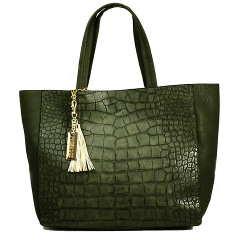 Mock-Croc Tote Bag with Clutch inside -- DB03911