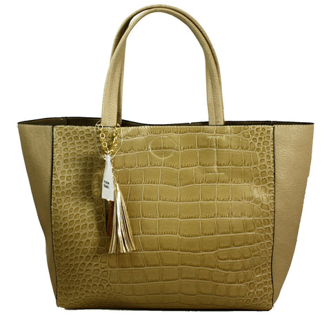 Mock-Croc Tote Bag with Clutch inside -- DB03914
