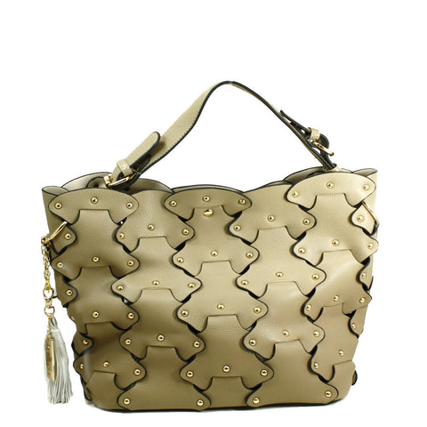 Petal Tote Bag with Removable Clutch -- DB04314