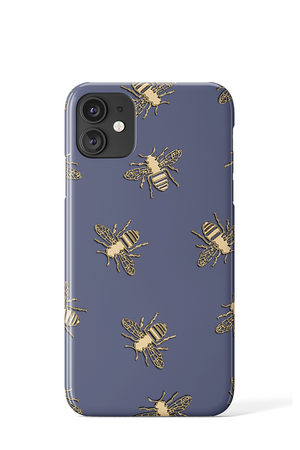 Bees Case (Blue) - iPhone