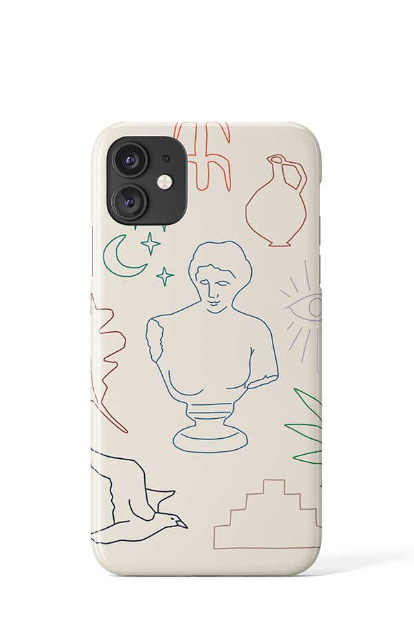 Ancient Greek Case Beige - iPhone
