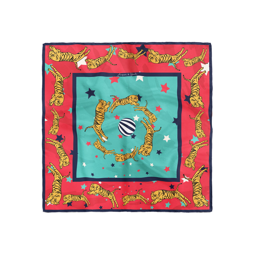 Cirque The Show Silk Scarf, Tigers